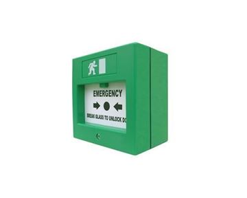 Imagen de EBELCO E-108 pulsador de salida de emergencia tipo glass break