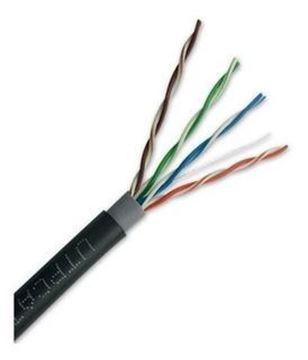 Imagen de VANGUARD cable exterior UTP 100% cobre cat 5e AWG24, caja 305 metros, listado UL